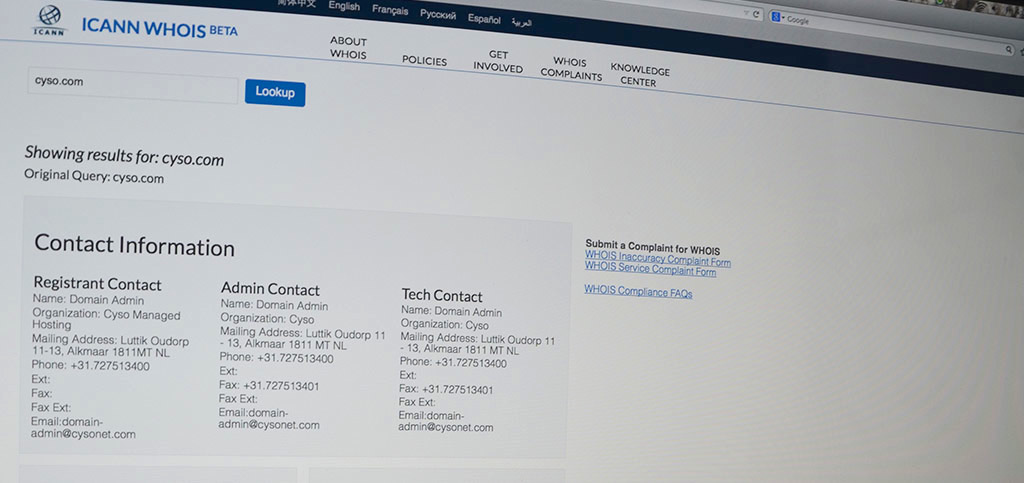 About ICANN's new contact validation